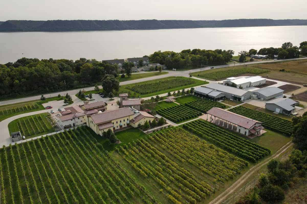 Villa Bellezza Winery Aerial View